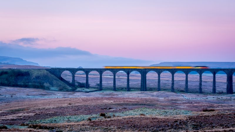 Train over the Ribblehead Viaduct