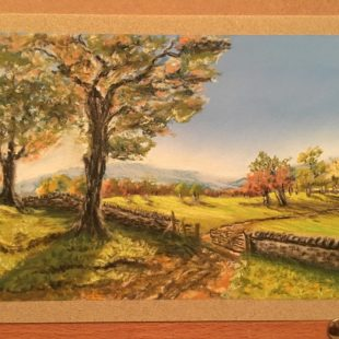 A pastel painting of one of my images by Julie Hazlewood