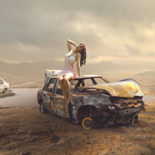 Photoshop Manipulation – Car Wreck
