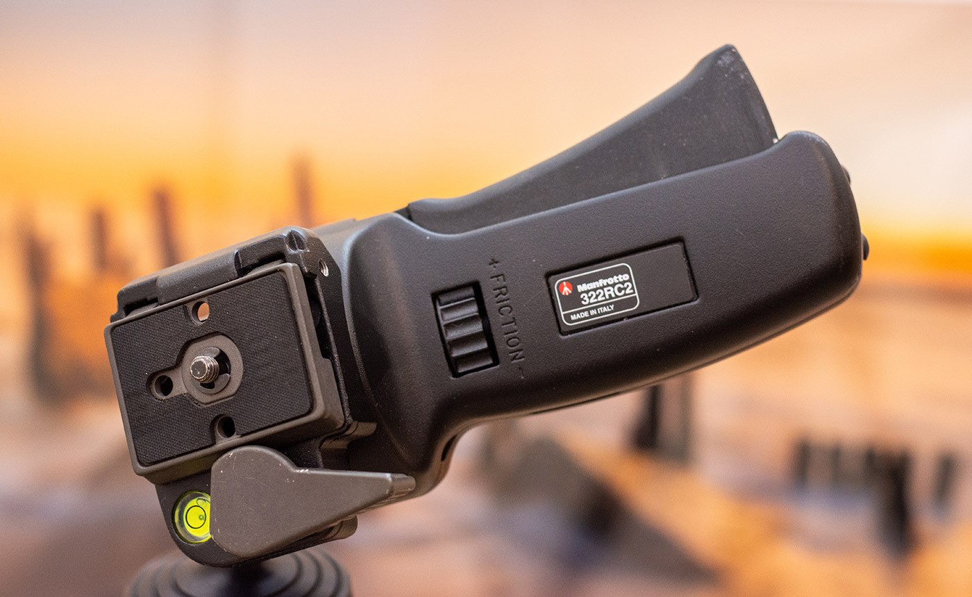 Manfrotto 322RC2 heavy duty grip ball head review
