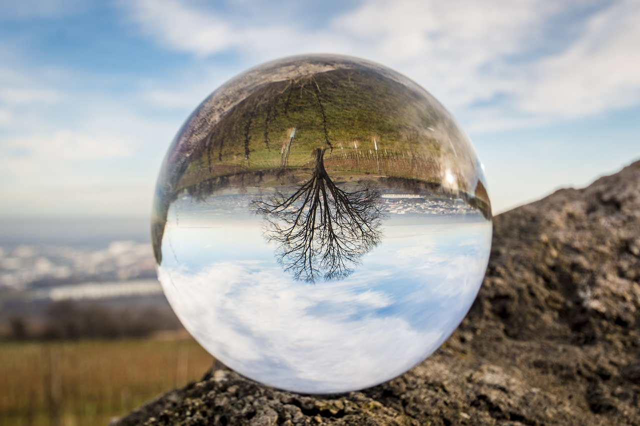 glass orb photography