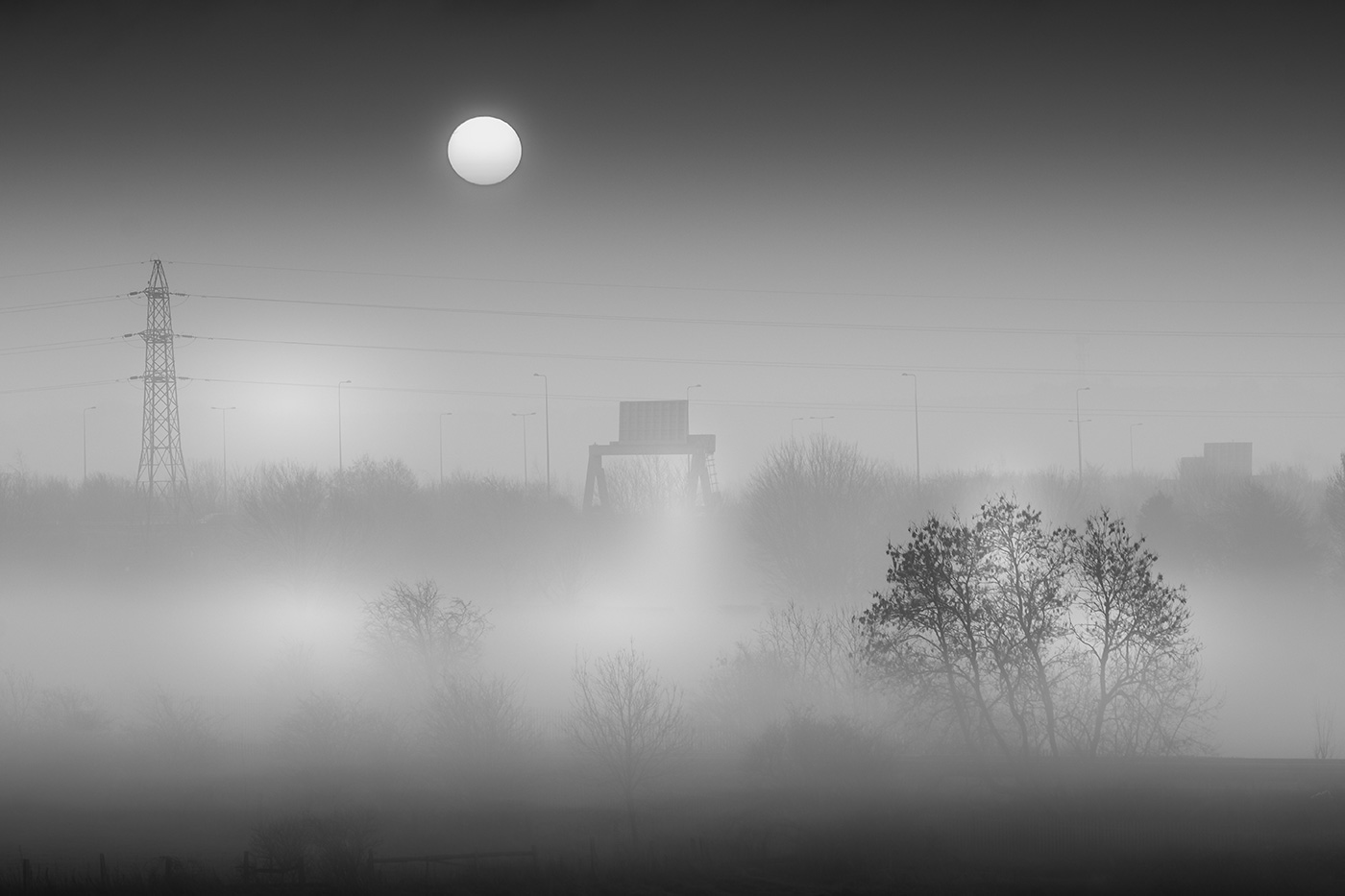 Misty Morning Through The Window
