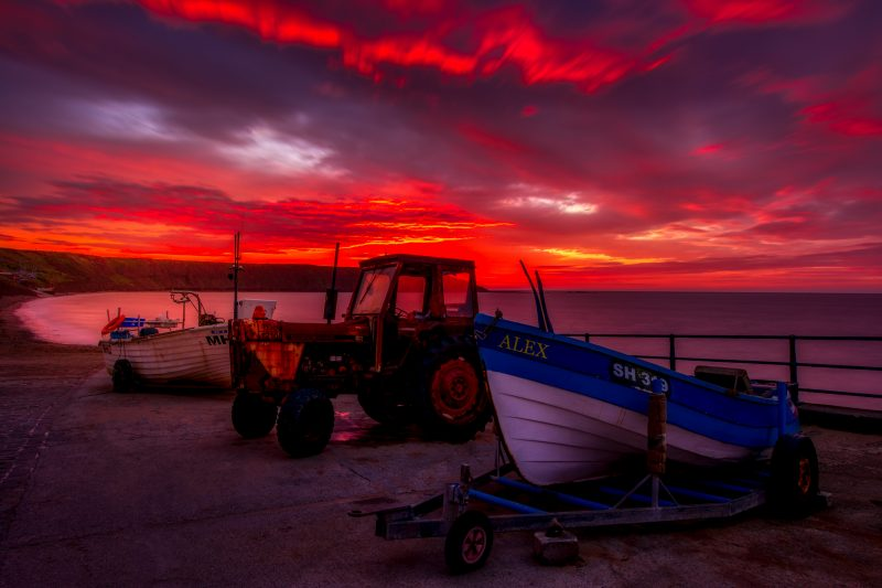 Burning Sky at Filey