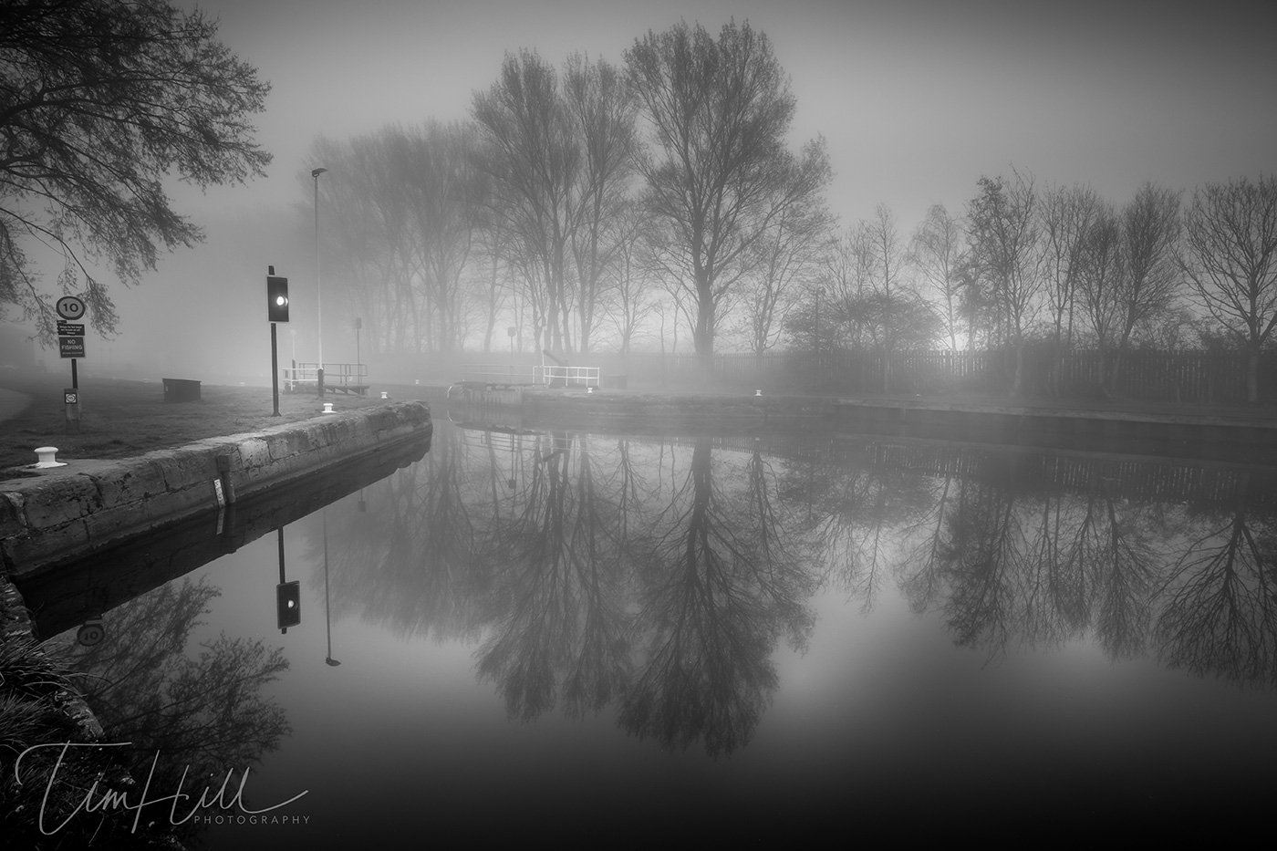 Canal Lock Castleford in the Mist