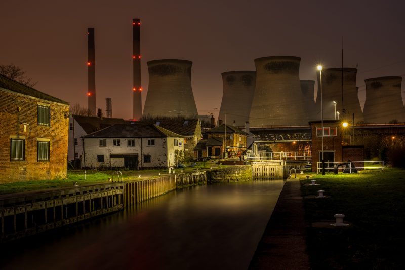 Ferrybridge Lock and decommissioned Power Station
