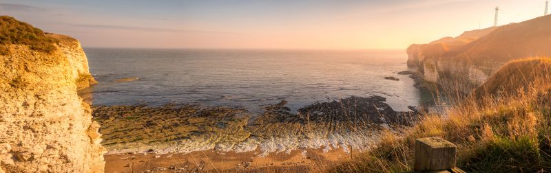 Flamborough Head Winter Sun Pano