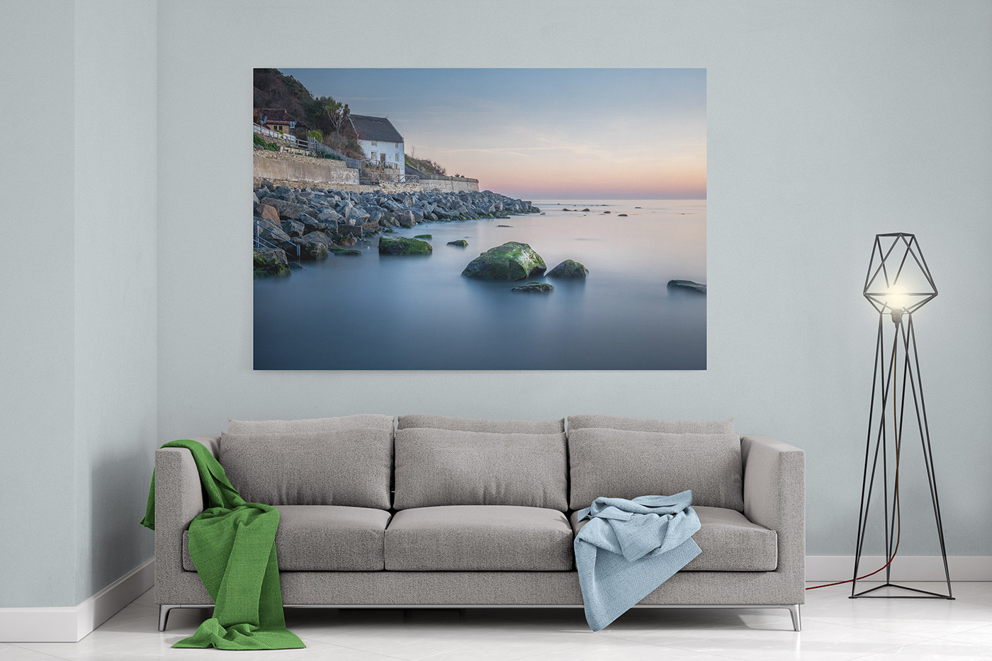 Runswick Bay Canvas Mockup