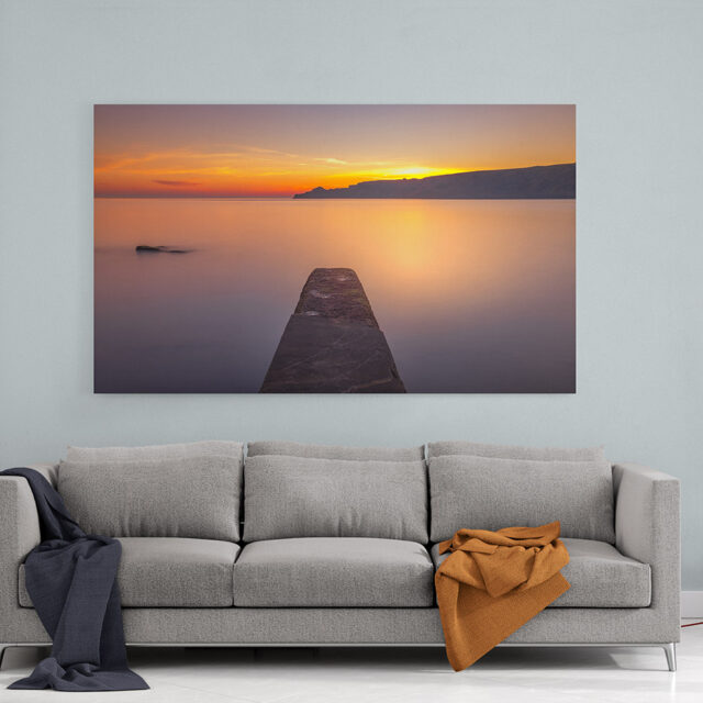 Runswick Bay Sunrise Canvas