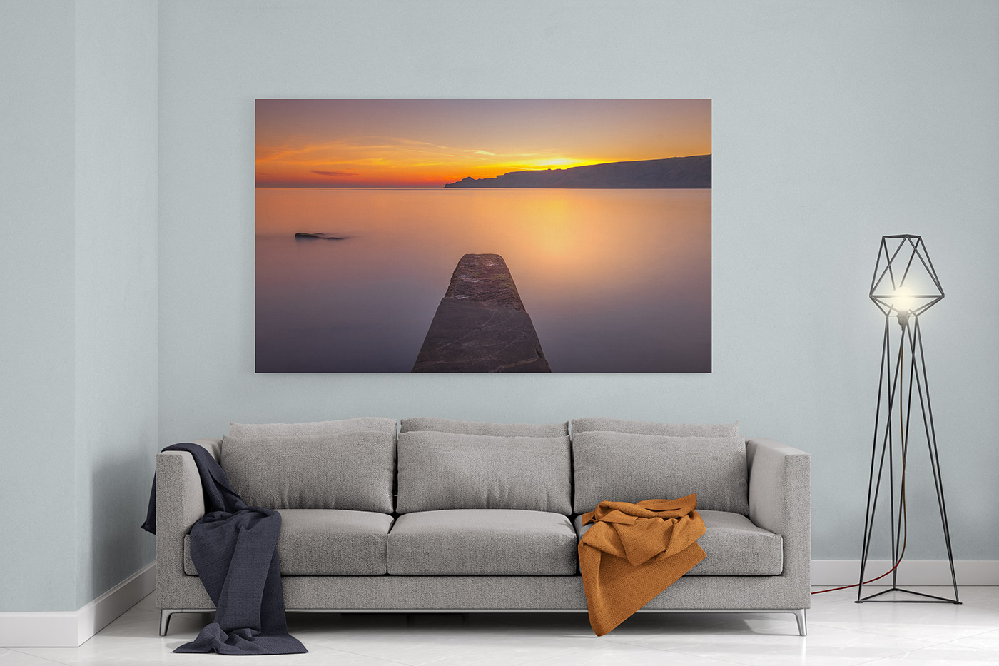 Runswick Bay Sunrise Canvas