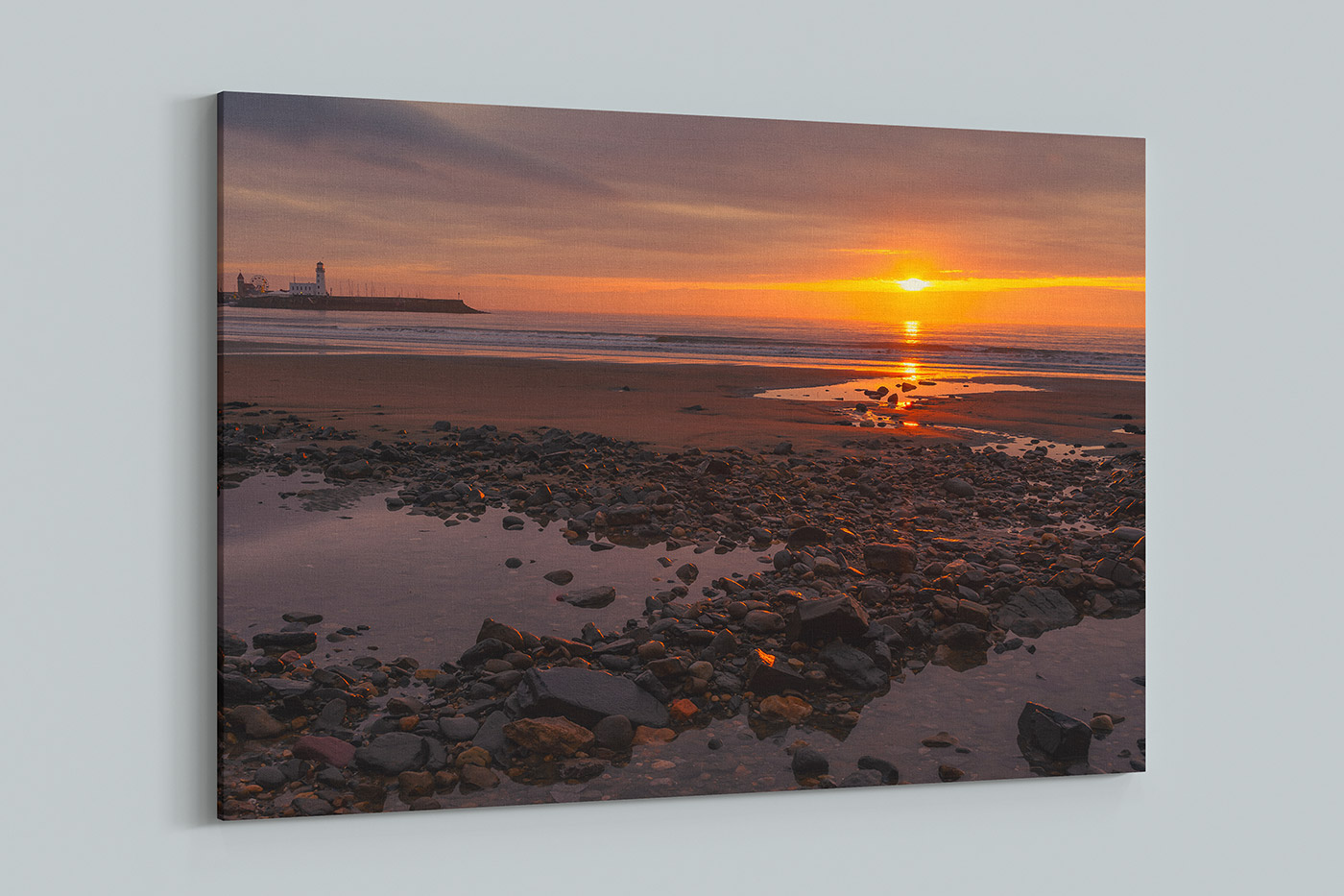 Scarborough Sunrise Canvas Yorkshire
