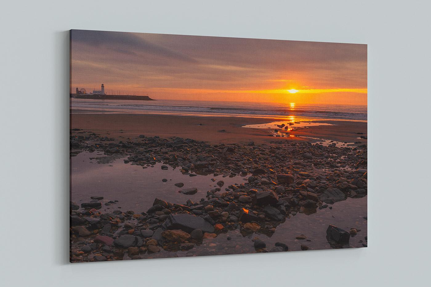 Scarborough Sunrise Canvas Yorkshire