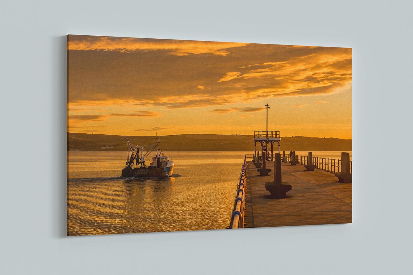 Weymouth Harbour Sunrise Canvas Wrap