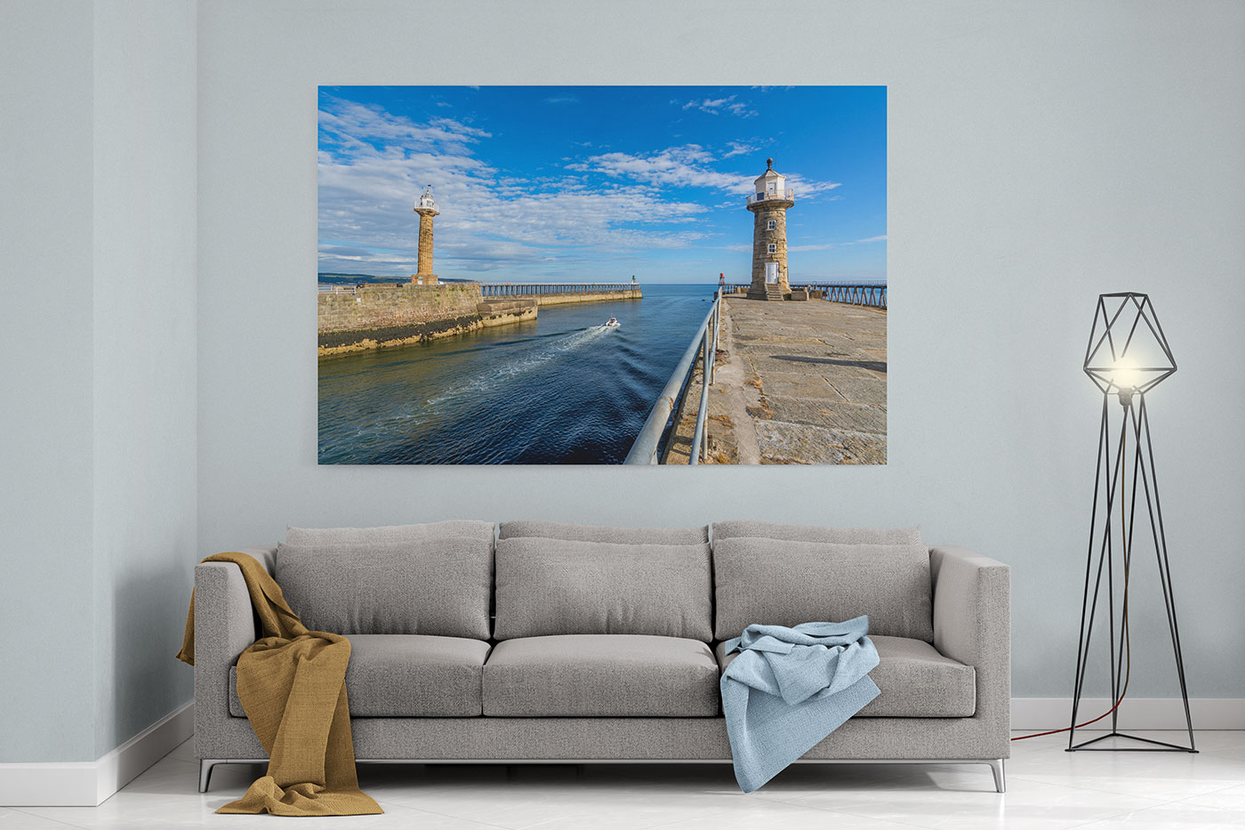 Whitby Harbour Print
