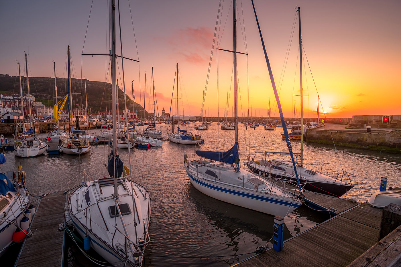Scarborough Harbour at Sunrise