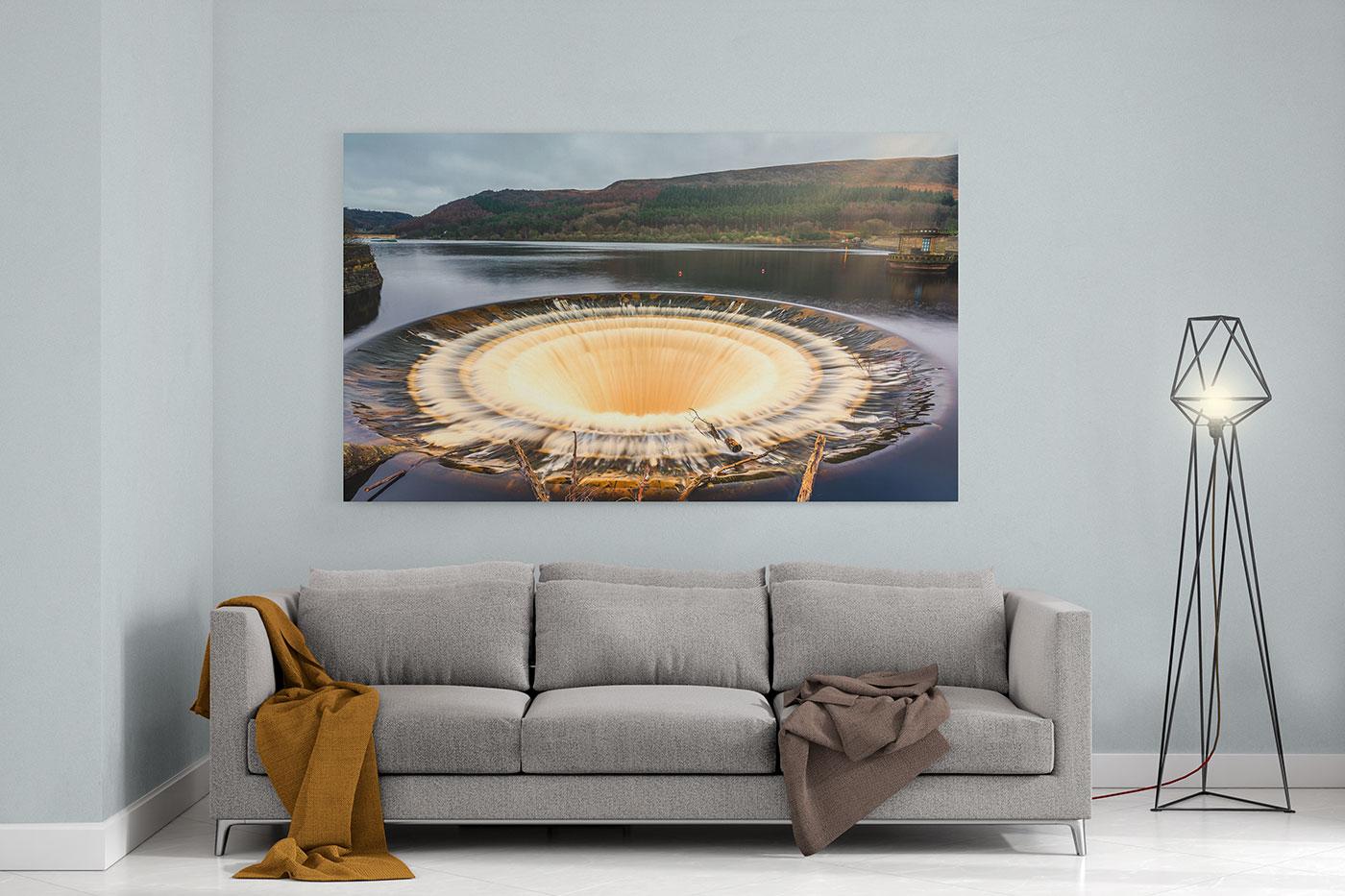 Bell Mouth Drain Ladybower Reservoir