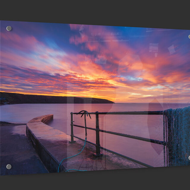 Filey Seafront Sunrise Acrylic