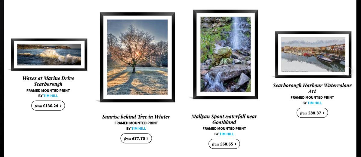 framed landscape prints
