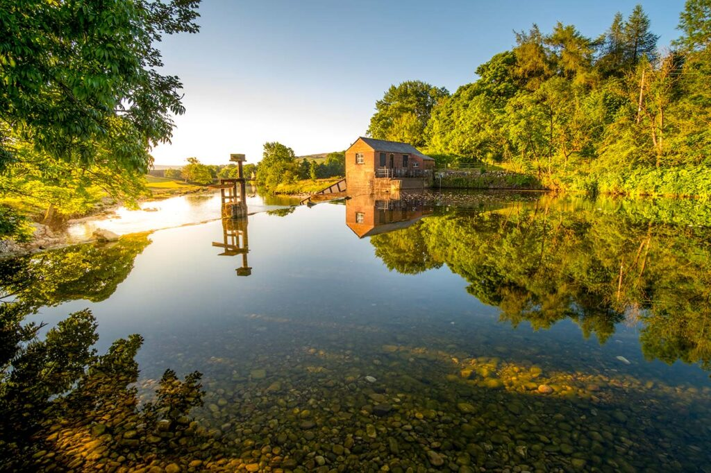 Reflections on the river wharfe grassington yorkshire dales