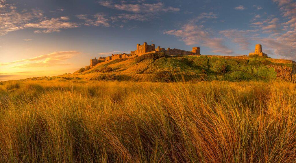 Bamburgh Castle at Golden Hour
