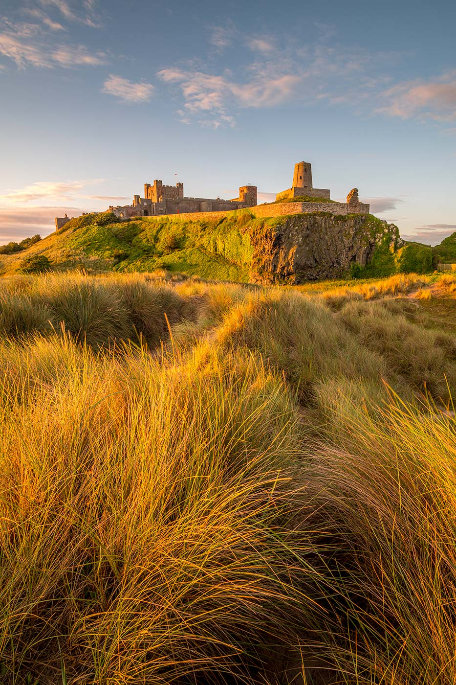 Bamburgh Sand Dunes and Castle
