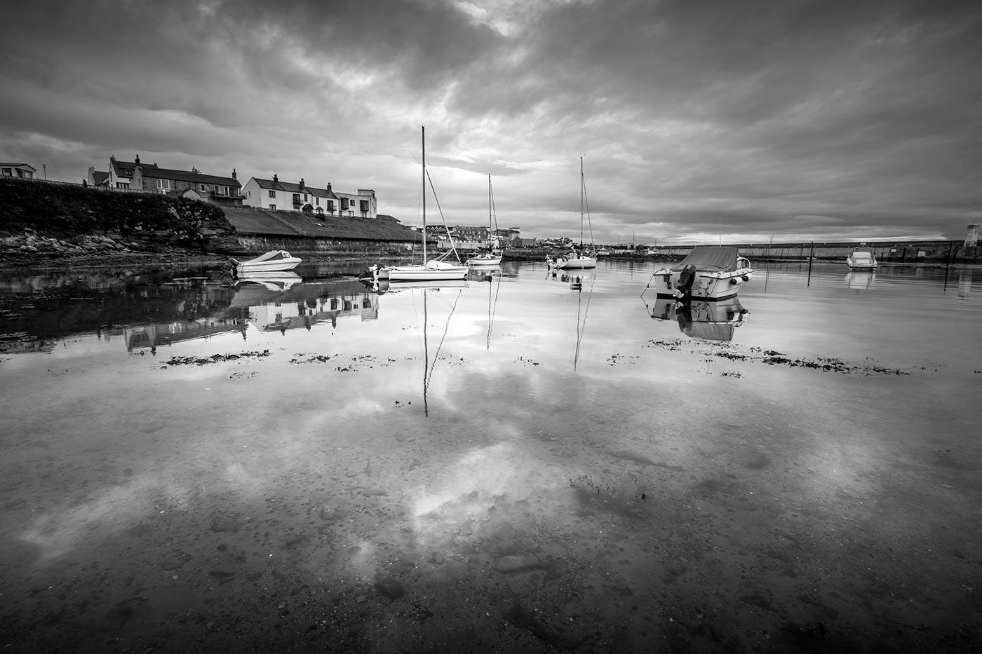 Seahouses Harbour Print